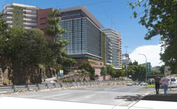 Concept rendering of proposed Kangaroo Point Integrated Wellness Community