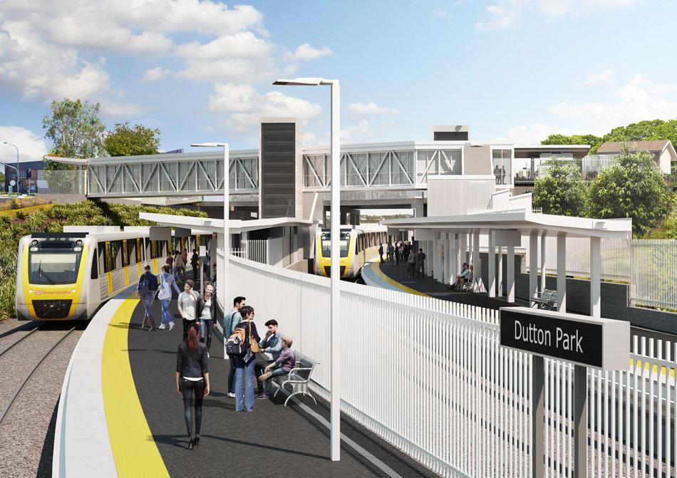 Dutton Park station - View from platform