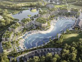 Architectural Rendering of Endless Surf Village Parkwood Aerial