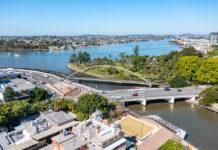 Architectural rendering of new Breakfast Creek bridge