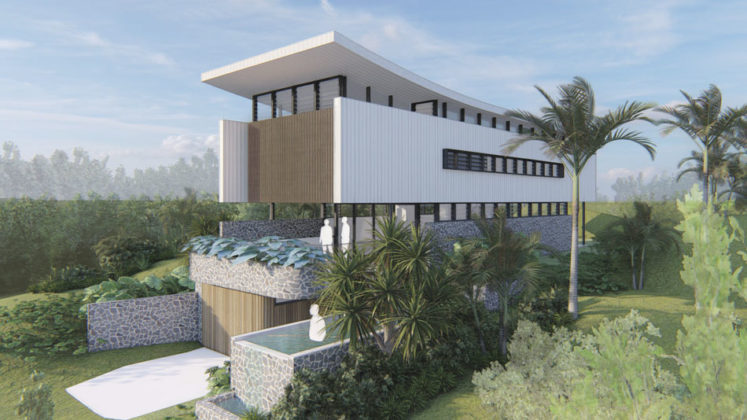 Architectural rendering of proposed Villas